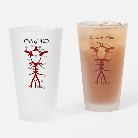 Circle of Willis Drinking Glass