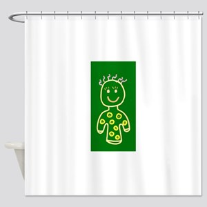 Green Cute Smiling Girl for Sophie Shower Curtain