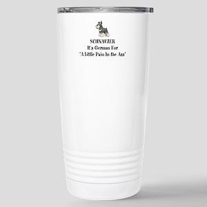 Gray Schnauzer Little Pain in the Ass Travel Mug