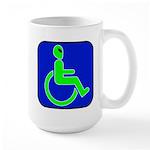 Handicapped Alien Large Mug