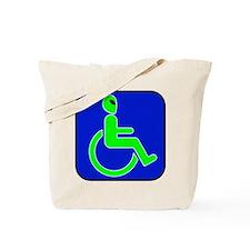 Handicapped Alien Tote Bag
