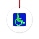Handicapped Alien Ornament (Round)