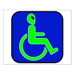 Handicapped Alien Small Poster
