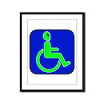 Handicapped Alien Framed Panel Print