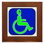 Handicapped Alien Framed Tile