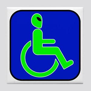 Handicapped Alien Tile Coaster