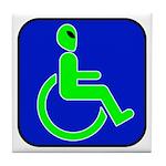 Handicapped Alien Tile Coaster
