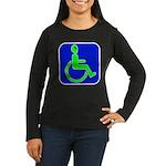 Handicapped Alien Women's Long Sleeve Dark T-Shirt