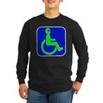 Handicapped Alien Long Sleeve Dark T-Shirt