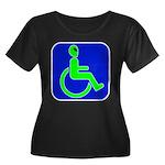 Handicapped Alien Women's Plus Size Scoop Neck Dar