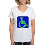 Handicapped Alien Women's V-Neck T-Shirt