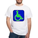 Handicapped Alien White T-Shirt