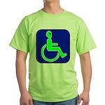 Handicapped Alien Green T-Shirt