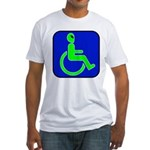 Handicapped Alien Fitted T-Shirt