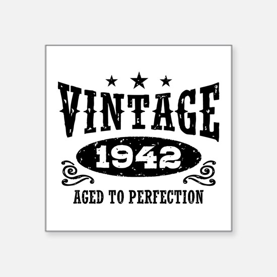 "Vintage 1942 Square Sticker 3"" x 3"""