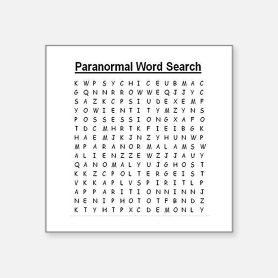 Paranormal Word Search Sticker