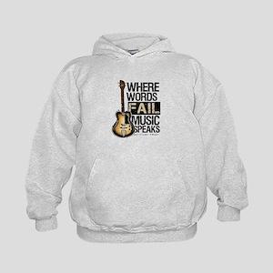 Music Speaks Kids Hoodie