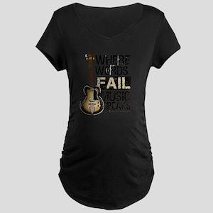 Music Speaks Maternity T-Shirt