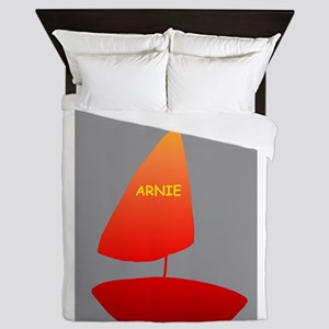 Sailboat Arnie Custom YHAWS Queen Duvet