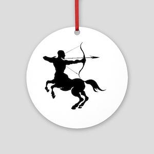 The Centaur Archer Sagittarius Z Ornament (Round)