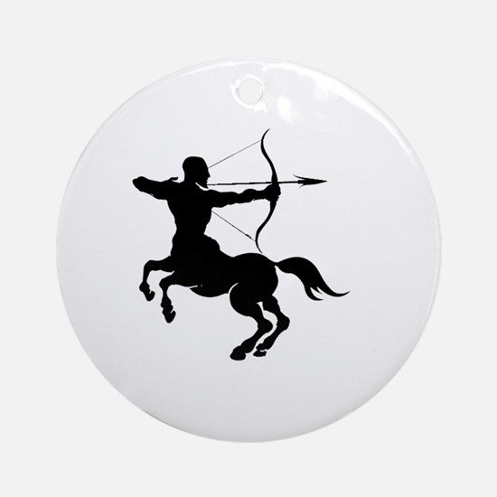 The Centaur Archer Sagittarius Z Ornament (Round)