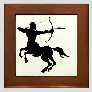 The Centaur Archer Sagittarius Zodiac Framed Tile