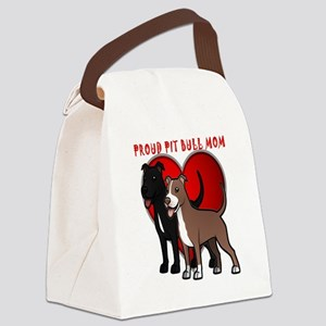 Proud pit bull mom Canvas Lunch Bag