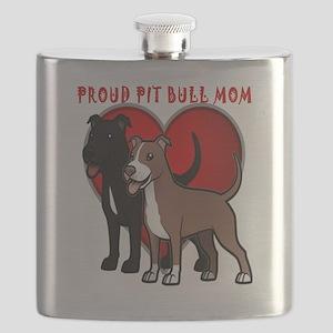 Proud pit bull mom Flask