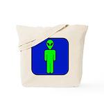 Alien Man Tote Bag