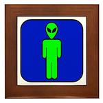 Alien Man Framed Tile