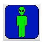 Alien Man Tile Coaster