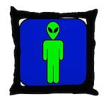 Alien Man Throw Pillow