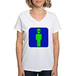 Alien Man Women's V-Neck T-Shirt