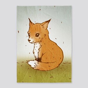 Cute Little Fox 5'x7'Area Rug