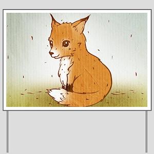 Cute Little Fox Yard Sign