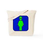 Alien Woman Tote Bag