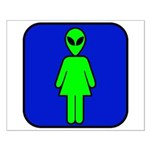 Alien Woman Small Poster