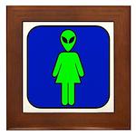 Alien Woman Framed Tile