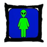 Alien Woman Throw Pillow