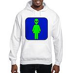 Alien Woman Hooded Sweatshirt