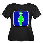 Alien Woman Women's Plus Size Scoop Neck Dark T-Sh
