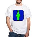 Alien Woman White T-Shirt