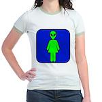 Alien Woman Jr. Ringer T-Shirt