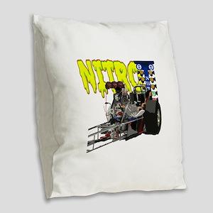 Nostalgia Nitro Burlap Throw Pillow