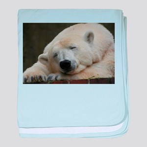 Polar bear 011 baby blanket