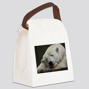 Polar bear 011 Canvas Lunch Bag