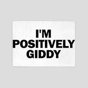 I'm Positively Giddy 5'x7'Area Rug