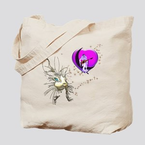 Cat Valentine's Day Heart Tote Bag
