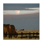Prairie Moon Tile Coaster