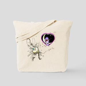 Cat Valentine's Day Stars Tote Bag